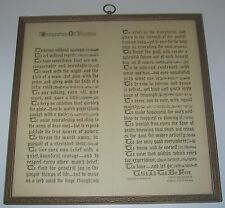 Antique Framed Victorian 1911 To My Mother Poem By Grapelin Murdock Glass Antiques