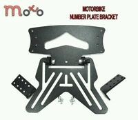 MOTORBIKE NUMBER PLATE HANGER BRACKET UNIVERSAL MOTORCYCLE TAIL TIDY BLACK