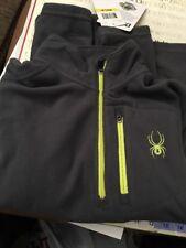 NWT NEW Spyder 3/4 ZIP Grey Polar Fleece Pullover Jacket Dr Grey Men's Medium