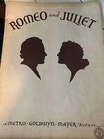 1936 Norma Shearer Leslie Howard Romeo and Juliet Original Movie Program MGM