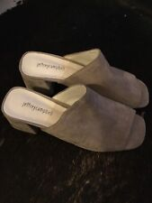 JEFFERY CAMPBELL SUEDE PERP TOE SLIDE...Size 9.5 ...NEW/ No Box