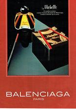 Publicité Advertising  068  1983    Balenciaga  eau de toilette Michelle
