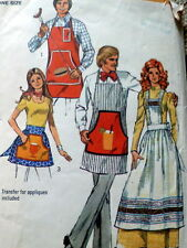 LOVELY VTG 1970s MENS OR WOMANS APPLIQUE APRON sewing Pattern