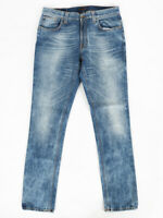 B-Ware | Nudie Herren Skinny Fit Jeans | Tape Ted Bleachspot Denim | W34 L34