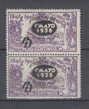 España 1938 Pareja Fiesta del Trabajo  Ed.761 Nuevo sin charnela MNH.Lujo