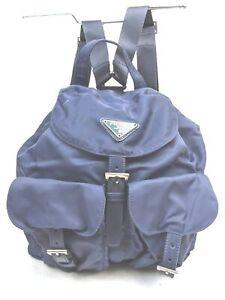Prada Back Pack  Blue Nylon 1414031
