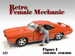 American Diorama 1:24 Scale Figure * Retro Female Mechanic - I * AD-38344