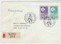 Geneva United Nations 1975 Registered stamps cover ref 21705