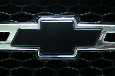 Chevy Vinyl Sheet x2 fits Chevy Bowtie Emblem Logo Matte Black Decals U-CUT Trim