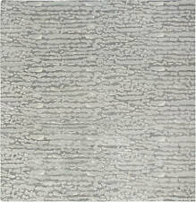 Beach Pebbles Gray Contemporary Hand Knotted Silk and Wool Rug N11785