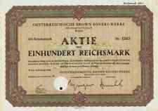 Oesterreichische Brown Boveri BBC 1940 Wien Österreich RM Mannheim ASEA ABB 100