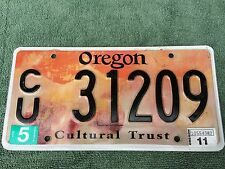 Oregon Cultural Trust Specialty License Plate - CU 31209