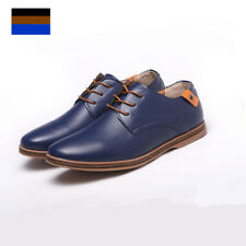 Men's European Style Leather Shoes Lace Up Oxfords Casual Formal Flats Loafer