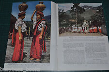1947 magazine article GUATEMALA, people, history, etc, color photos