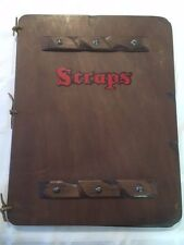 Large Medieval Style Wood ScrapBook Game of Thrones Knights & Dragons Scrapbook