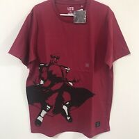UNIQLO CAPCOM Street Fighter Master Bison UT MEN'S Graphic Red T-Shirt XS-XL