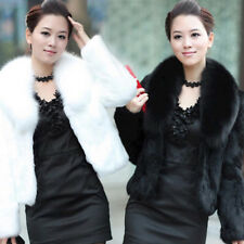 Large Fox Fur Rabbit Fur Coat Women Short Rabbit Furs Jacket Wholesale