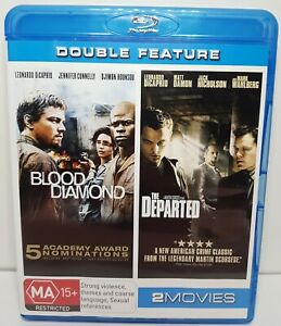Blood Diamond / The Departed (Bluray Region Free) Leonardo DiCaprio Double Movie