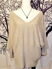 AGB DRESS Womans TUNIC Knit Top GRAY Sweater Shirt LIGHTWEIGHT Size 22w XXXL 3x