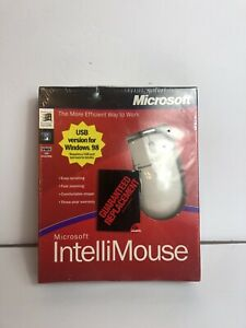 Vintage Microsoft IntelliMouse 3.0 PS/2 Ball Mouse New NIB Sealed
