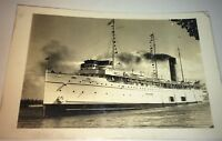 Rare Antique Canadian Steamer Assiniboia Transport Real Photo Postcard! RPPC!
