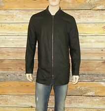 NEW John Varvatos Jacket in Black Size Small Cotton-Linen was $298.00