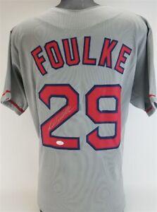 Keith Foulke Signed Boston Red Sox Gray Jersey (JSA COA) 2004 World Champ Closer