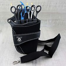 COMPLETE BLACK BARBER/SALOON HAIRDRESSING SCISSOR & COMB HOLSTER WAIST POUCH/BAG