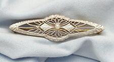 Elegant 14K Karat Solid Two Tone Multi Tone Gold Vintage Brooch Pin - Beautiful!