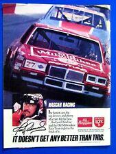 "Tim Richmond Nascar Pontiac 1984 Old Milwaukee Original Print Ad 8.5 x 11"""