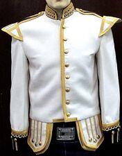 Piper/Drummer Doublet White Blazer, Gold Braid&Trim.Collar,Shoulder&Cuffs black.