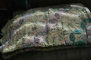 """Vintage handmade throw quilt new in pkge 100% Cotton 50""""x60"""" Unused Amer Pacific"""