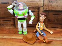 "Disney Pixar Toy Story Buzz Lightyear and Woody Figure Dolls 12"""