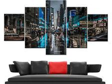 New York City Street Rain NYC 5 Pieces Canvas Wall Art Poster Print Home Decor