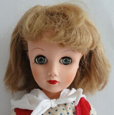 "Glamour 1950s Vintage Fashion 19"" Tall Blonde Blue Eyes 14R Deluxe Reading DOLL"