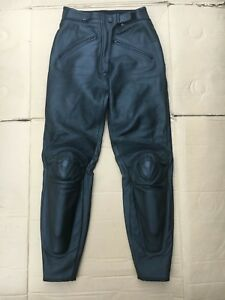"""DAINESE Ladies Leather Motorcycle Trousers Pants UK 8 = 26"""" to 27"""" Waist (LUB28)"""
