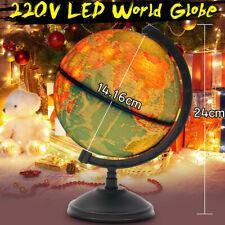 Illuminating World Map Globe Desk Lamp LED Night Light Home Bedroom Kids Gift
