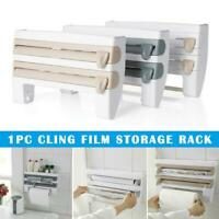 Multifunction Film Storage Rack Cutter For Kitchen Nail Free Kitchen Tools DIY