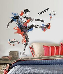 Roommates Soccer Champion Sports Themed Peel and Stick Wall Decal