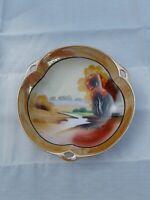 VTG Japanese Hand Painted Chikaramachi Lusterware Bowl Trinket Dish Japan