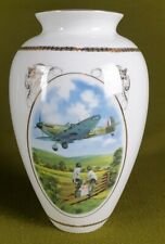 More details for 5303 a davenport bone china vase heroes of the sky series spitfire coming home