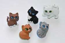 Kitten Kaboodle Buttons / Dress It Up Jesse James Cat Theme Buttons # 6971