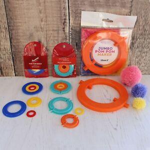Small Medium & Jumbo Pom Pom Bobble Maker in 3 Types and 4 Different Sizes