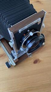 Shen Hao TZ45-IIA 4x5 field camera with 180mm f5.6 Schneider lens