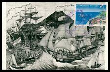 NEDERLANDSE ANTILLEN MK 1961 SCHIFFE SHIP CARTE MAXIMUM CARD MC CM h0389