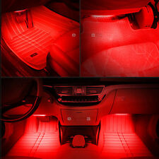 RED 12 LED Interior Kit Glow Under Dash Foot Well Seat Inside Light For Toyota