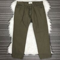 Nili Lotan Drop Crotch Relaxed Fit Pants Size 6 Olive Green *READ*