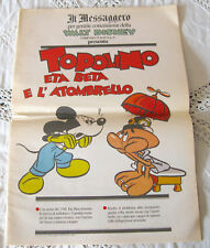 TOPOLINO ETA BETA E L'ATOMBRELLO Supplemento a <<Il Messaggero>> del 31/03/1990