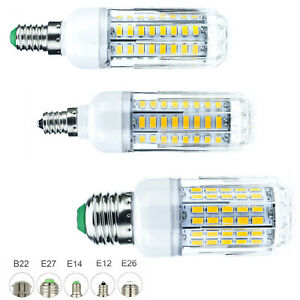 Dimmable LED Corn Light Bulb E27 B22 E14 5730 SMD 50W - 100W Equivalent Lamps RH