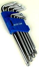 9x TORX Schlüssel Satz Schraubendreher Set Werkzeug Hobby Winkelschlüssel Work